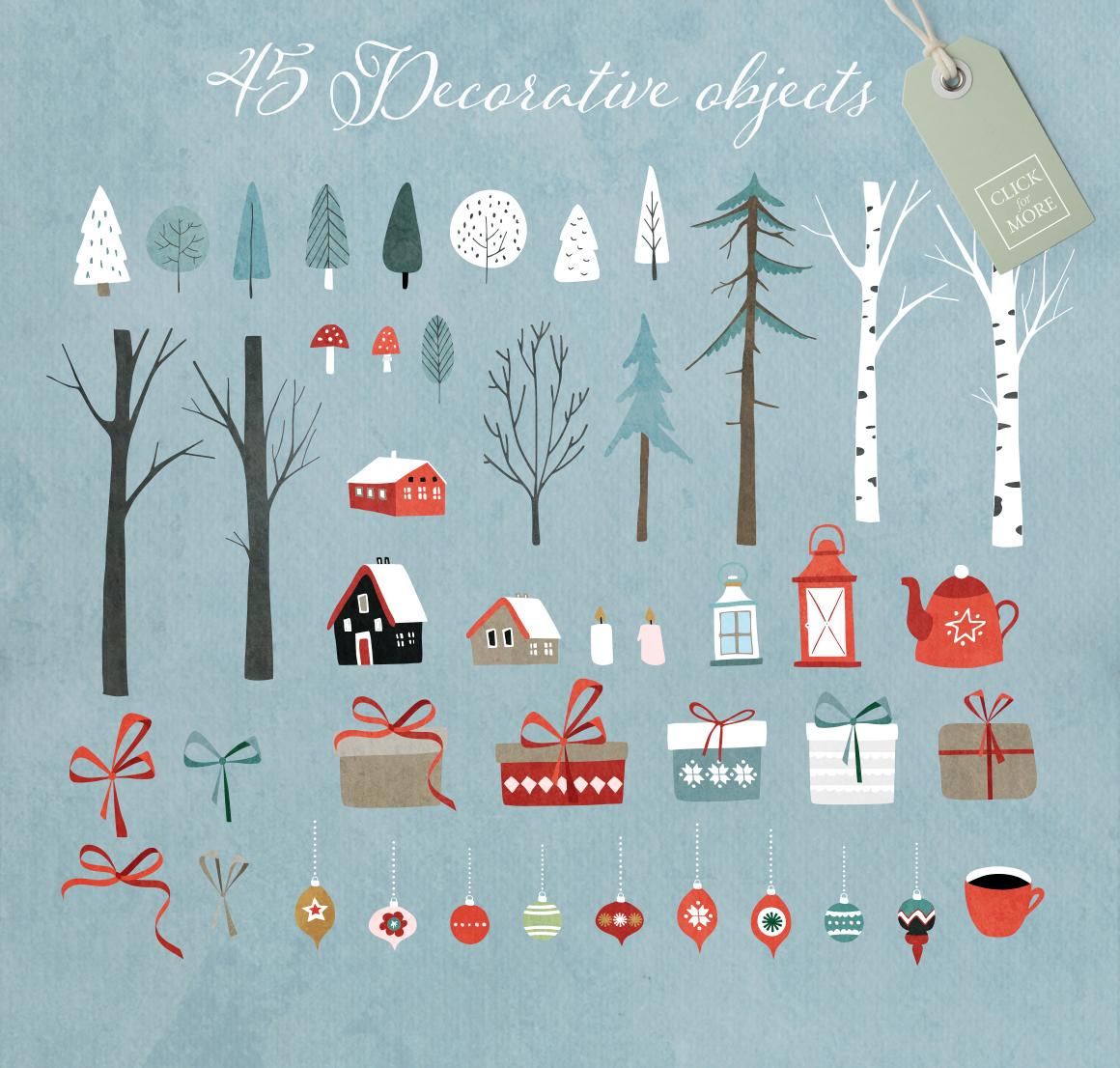 Merry Christmas set, 166 elements example image 8