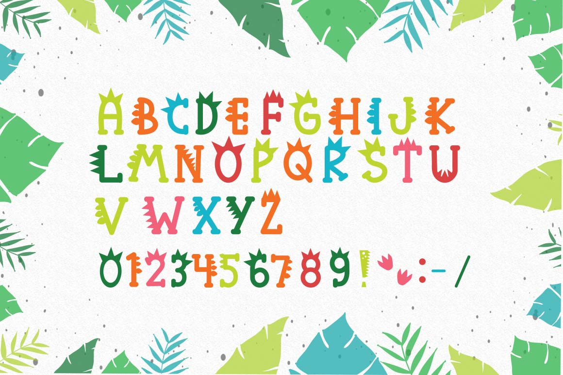 Roarr! dino party, a funny uppercase font example image 2