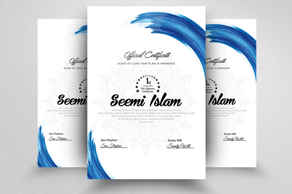 Clean Diploma Certificate Template example image 2