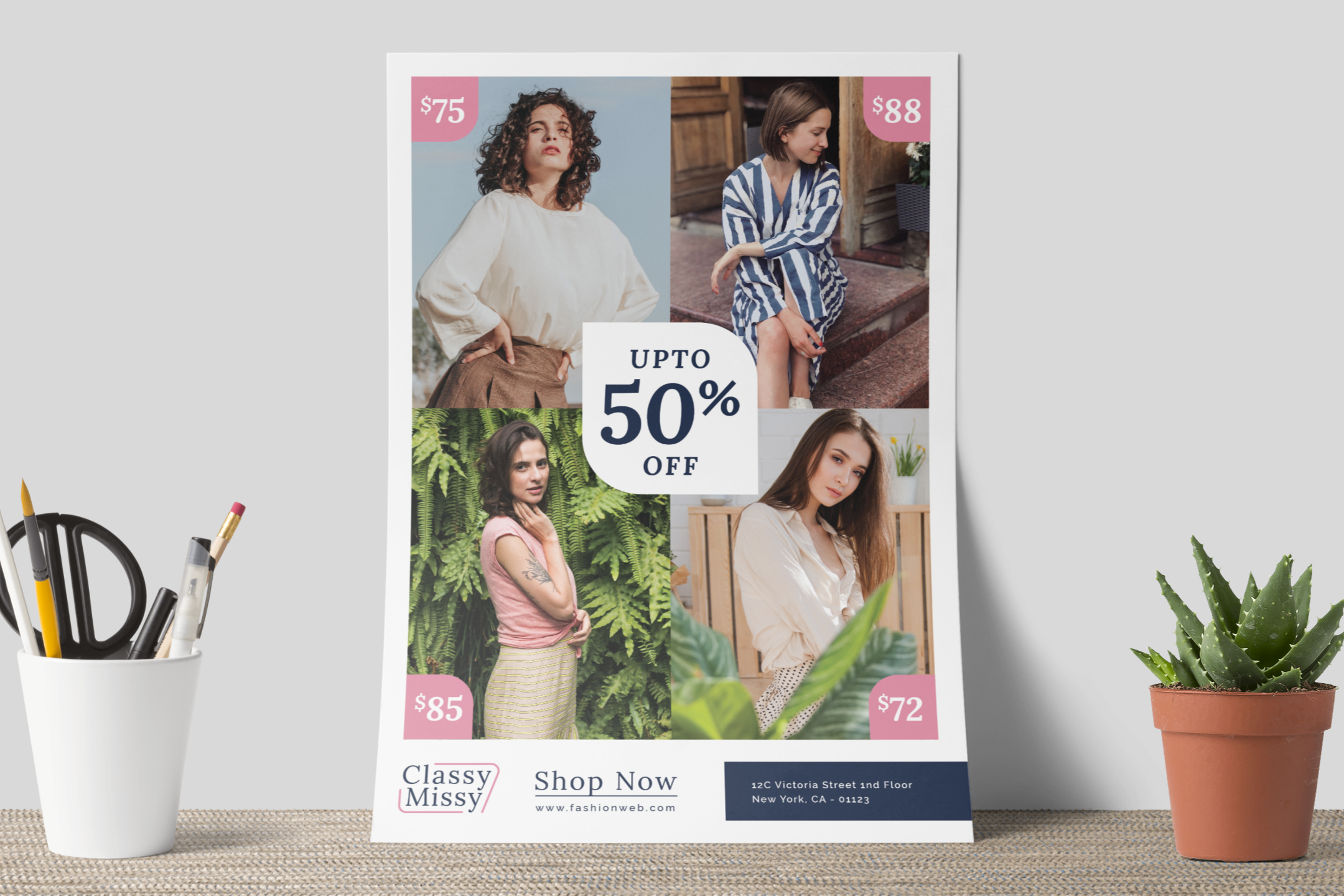Fashion sale flyer example image 8