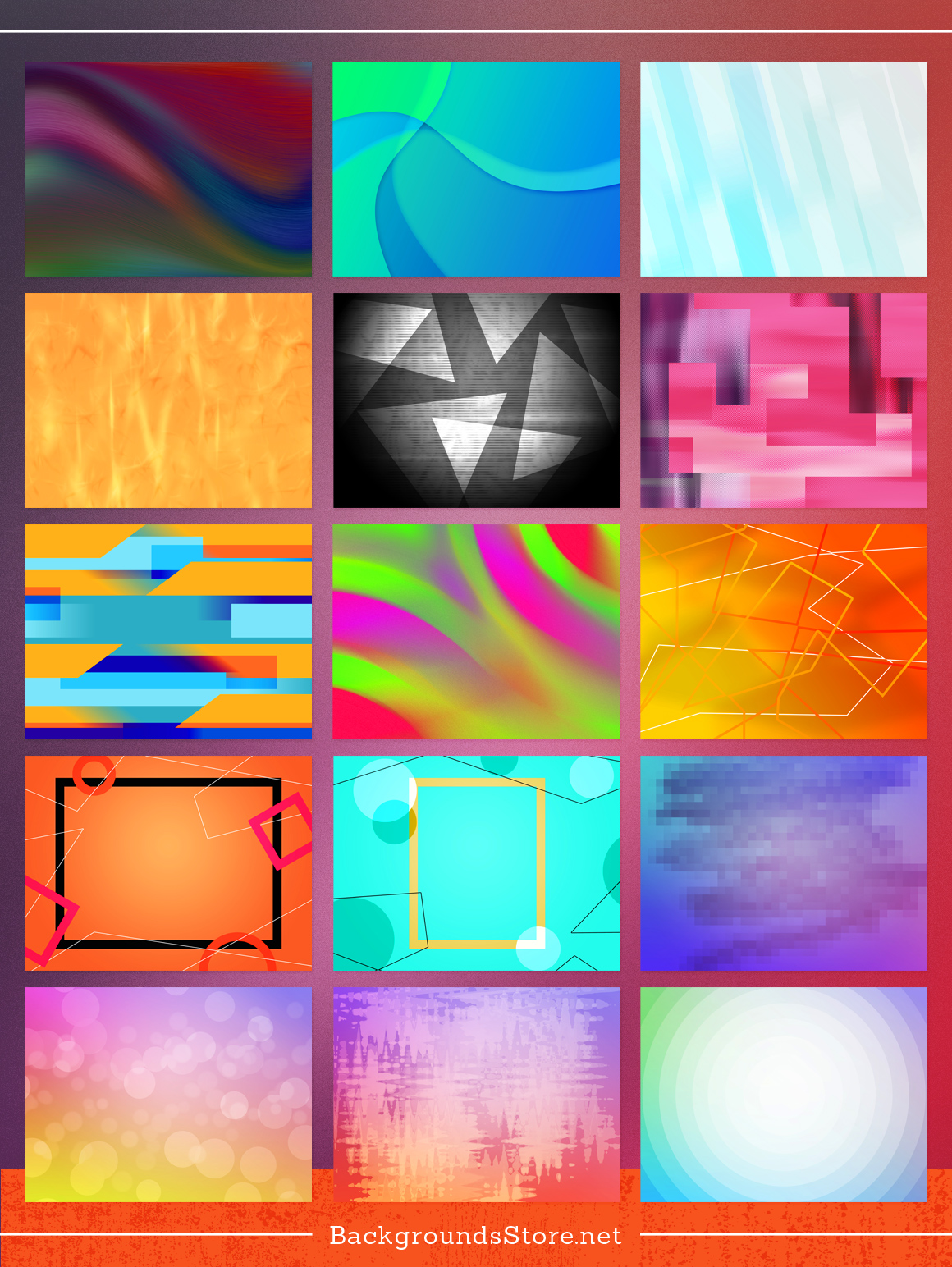 Abstracts Backgrounds Set example image 3