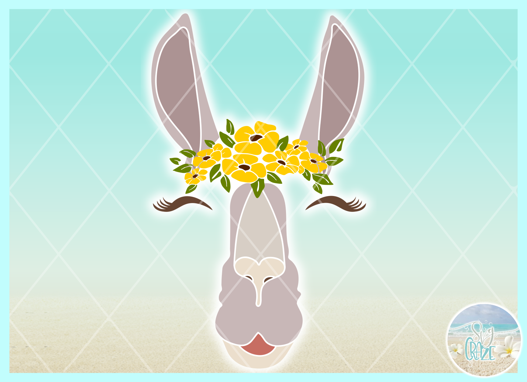 Llama Face With Flowers Svg Dxf Eps Png Pdf Files For Cricut example image 3