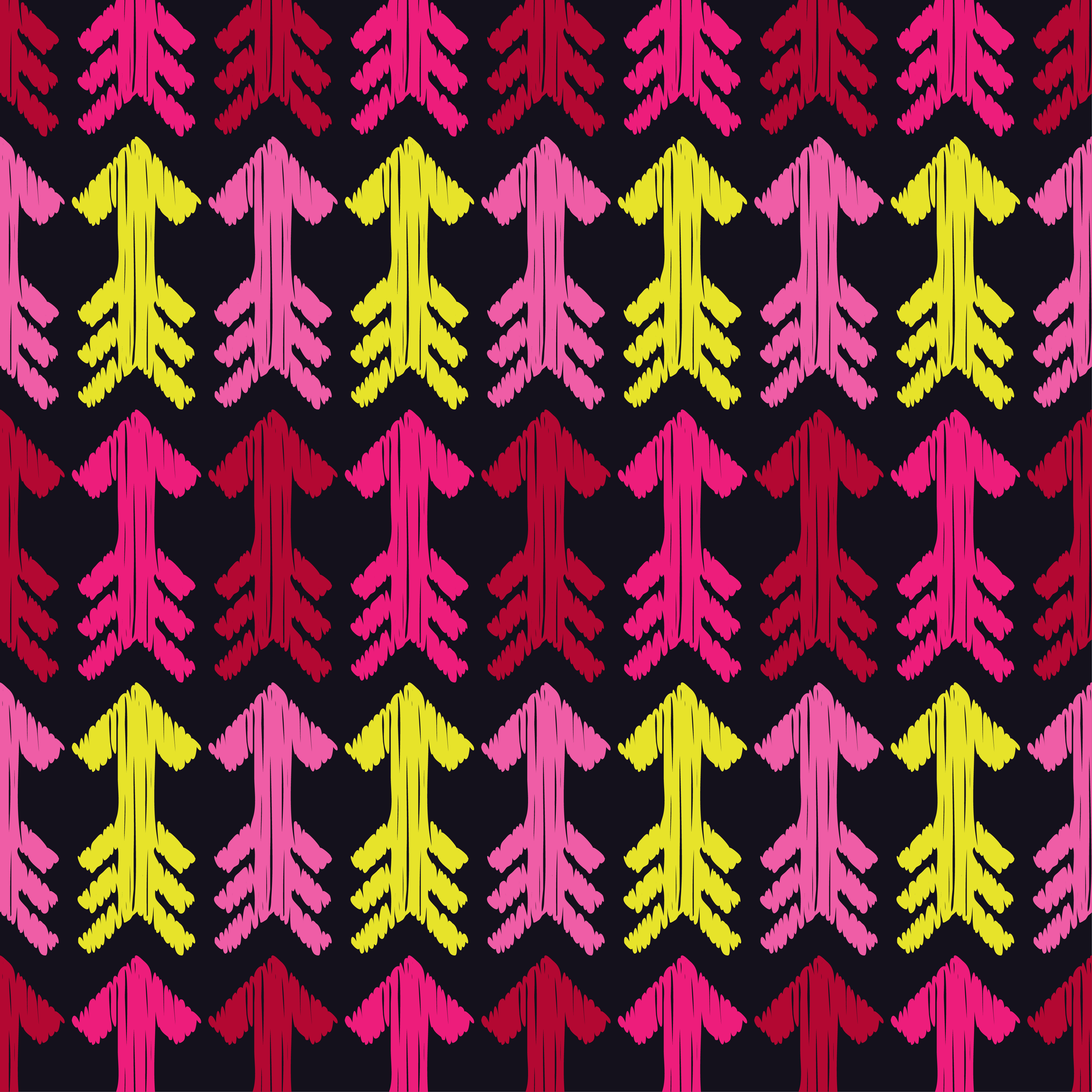 6 Ethnic boho seamless pattern. Arrows scribble texture.  example image 6