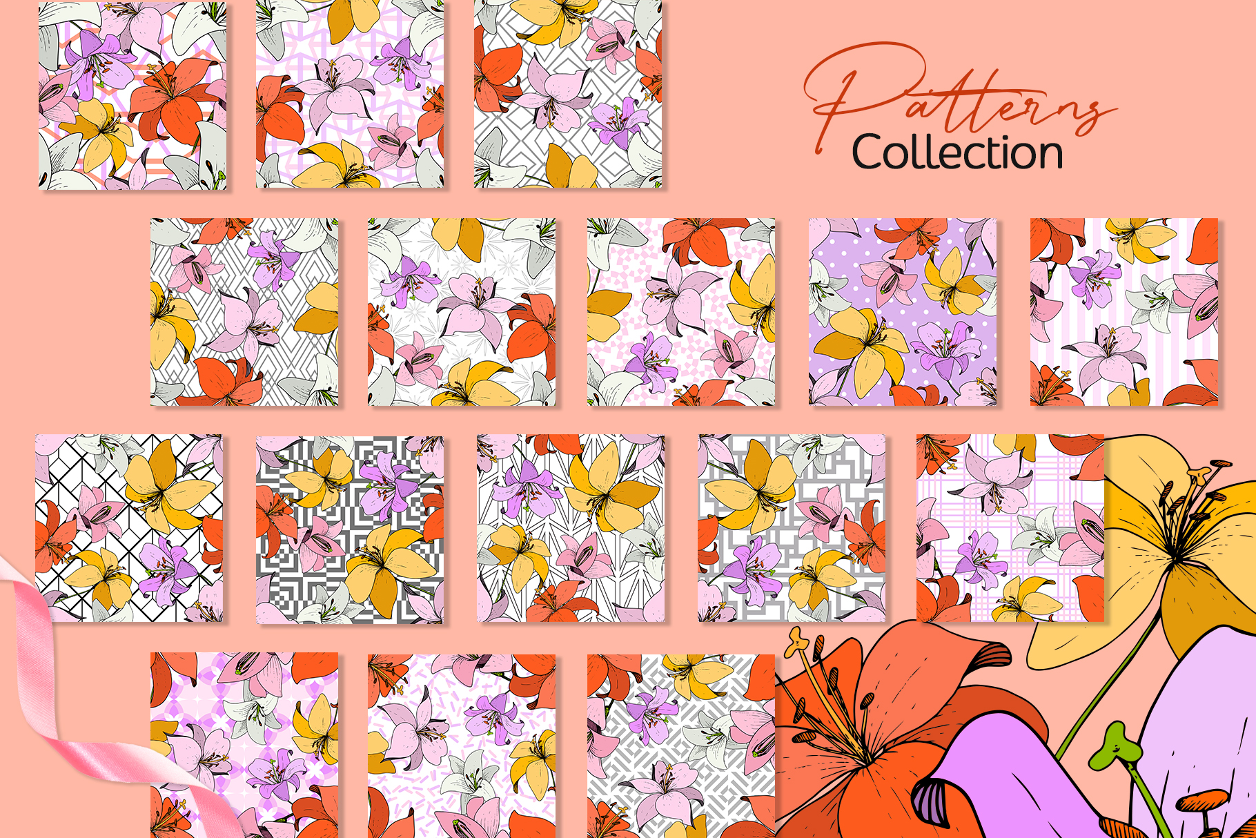 Lilies Vector Collection example image 5