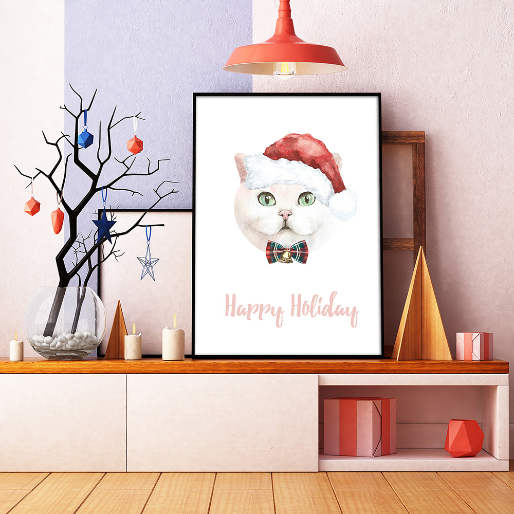 Christmas Animal Creator.Watercolor Dogs & Cats example image 12
