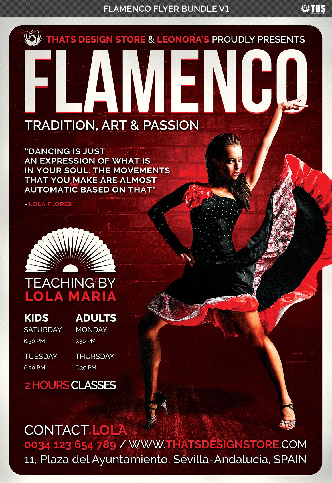 Flamenco Flyer Bundle V1 example image 7