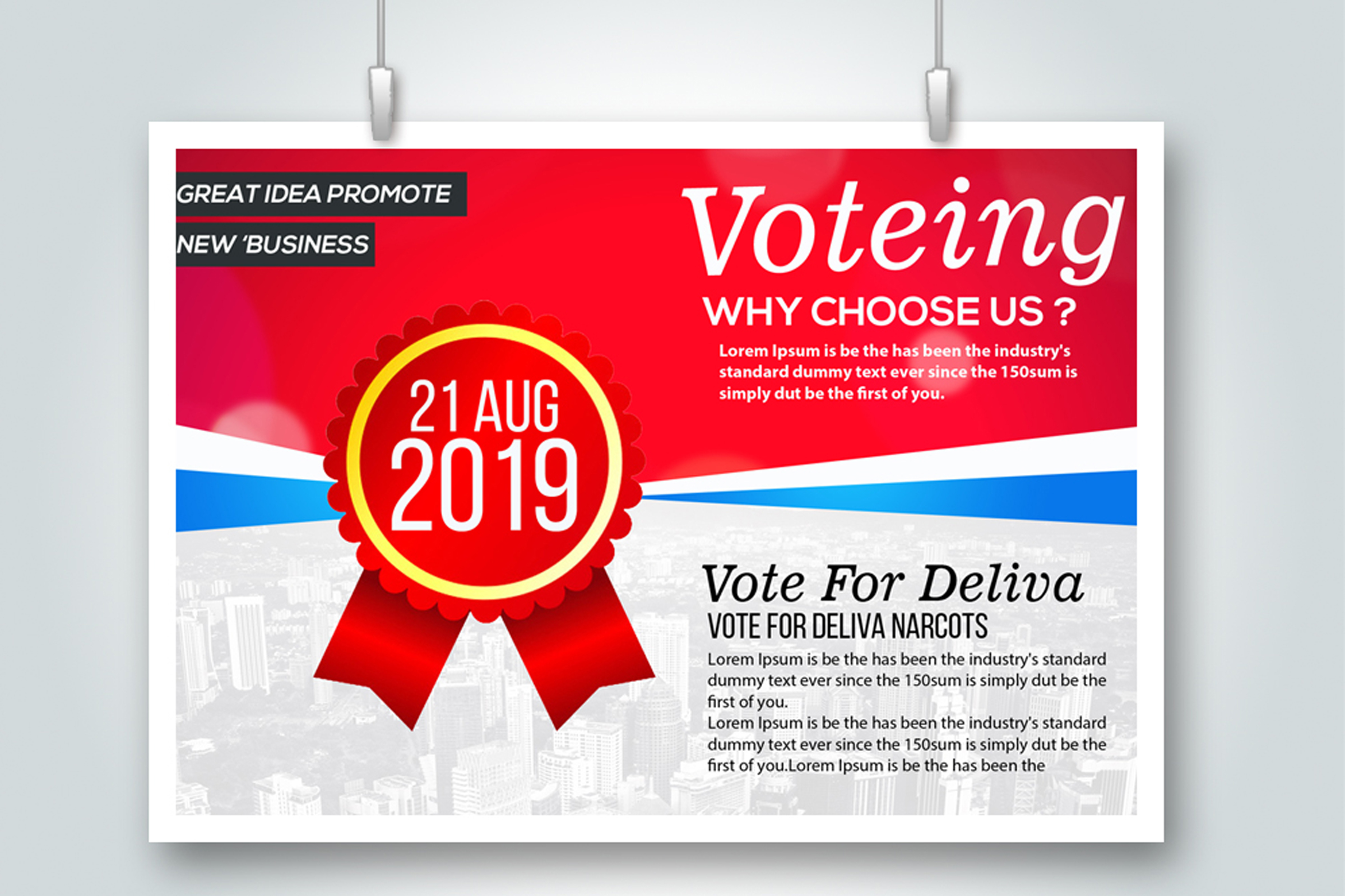 4 Election Voting Flyers Bundle example image 2