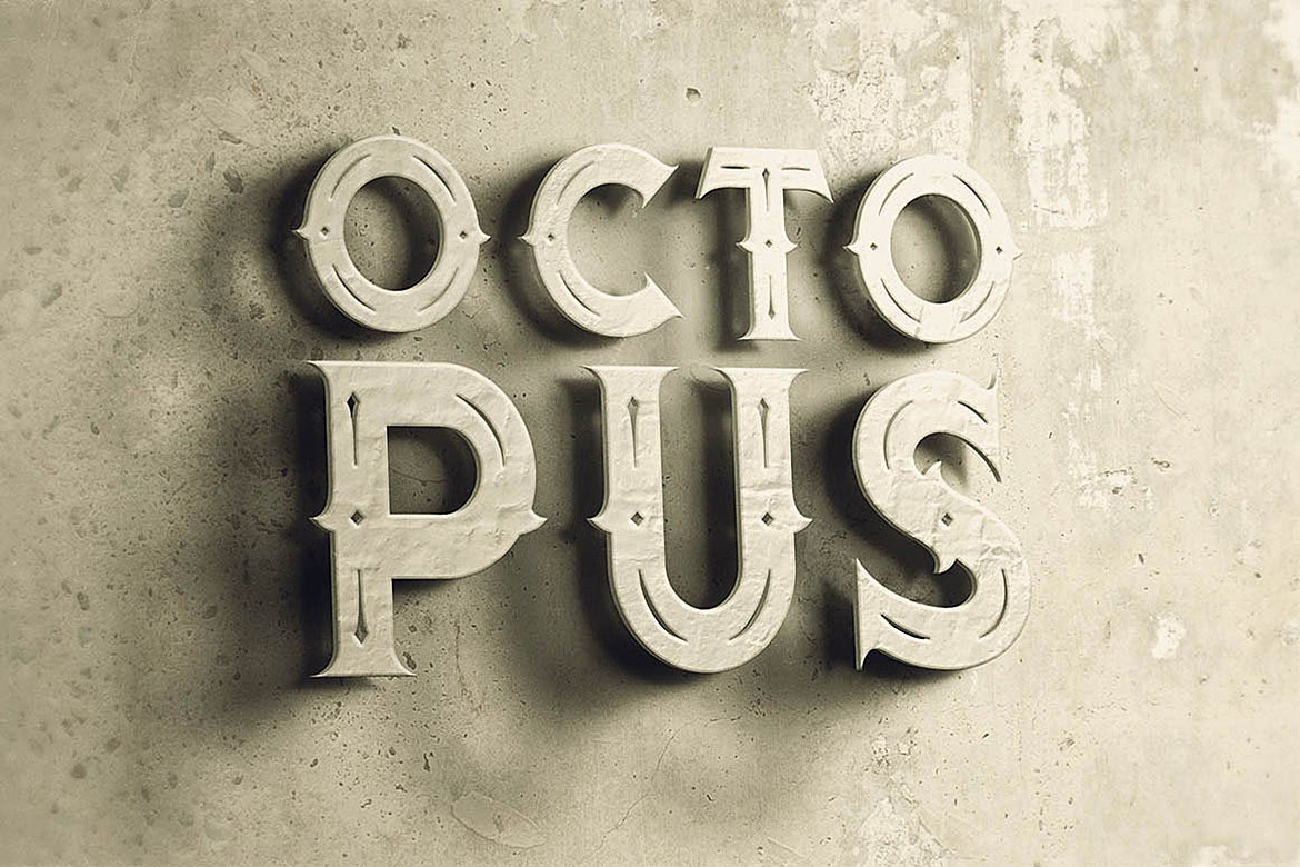 Octopus - Vintage Style Font example image 4