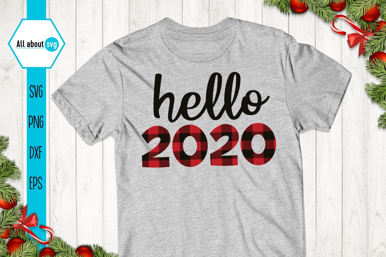Hello 2020 Buffalo Plaid Svg example image 2
