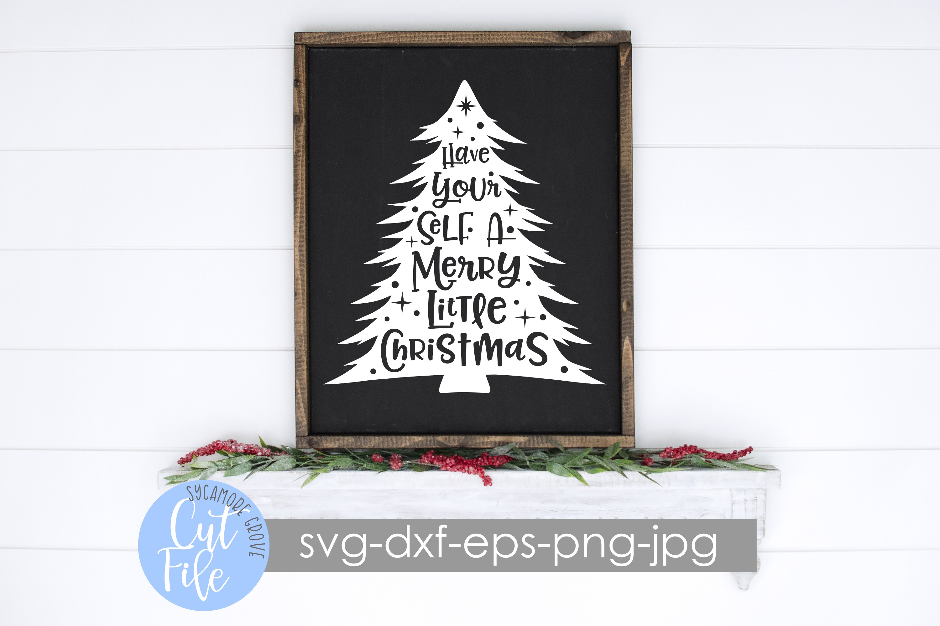 Have Yourself A Merry Little Christmas SVG example image 3