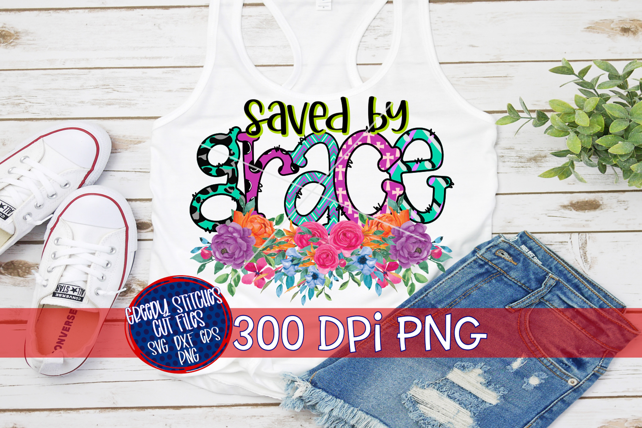 Easter PNG |Saved By Grace PNG For Sublimation example image 2