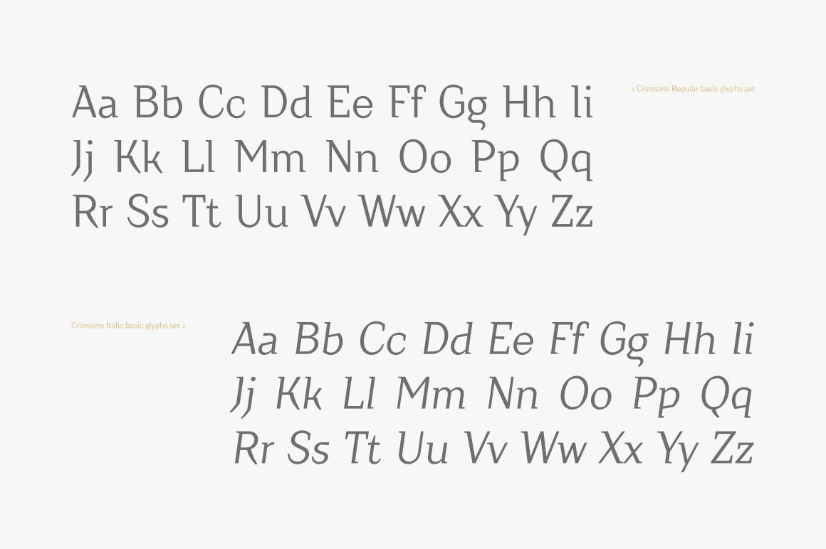 Crimsons — Regular & Italic example image 4