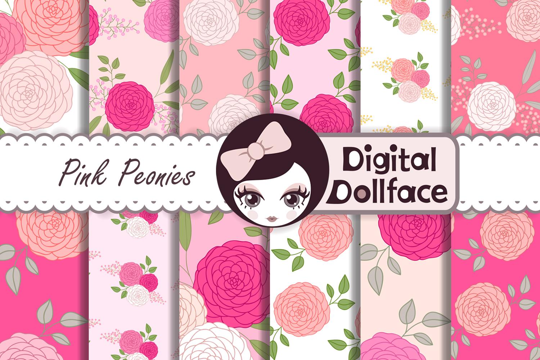 Pink Peonies Patterns example image 1