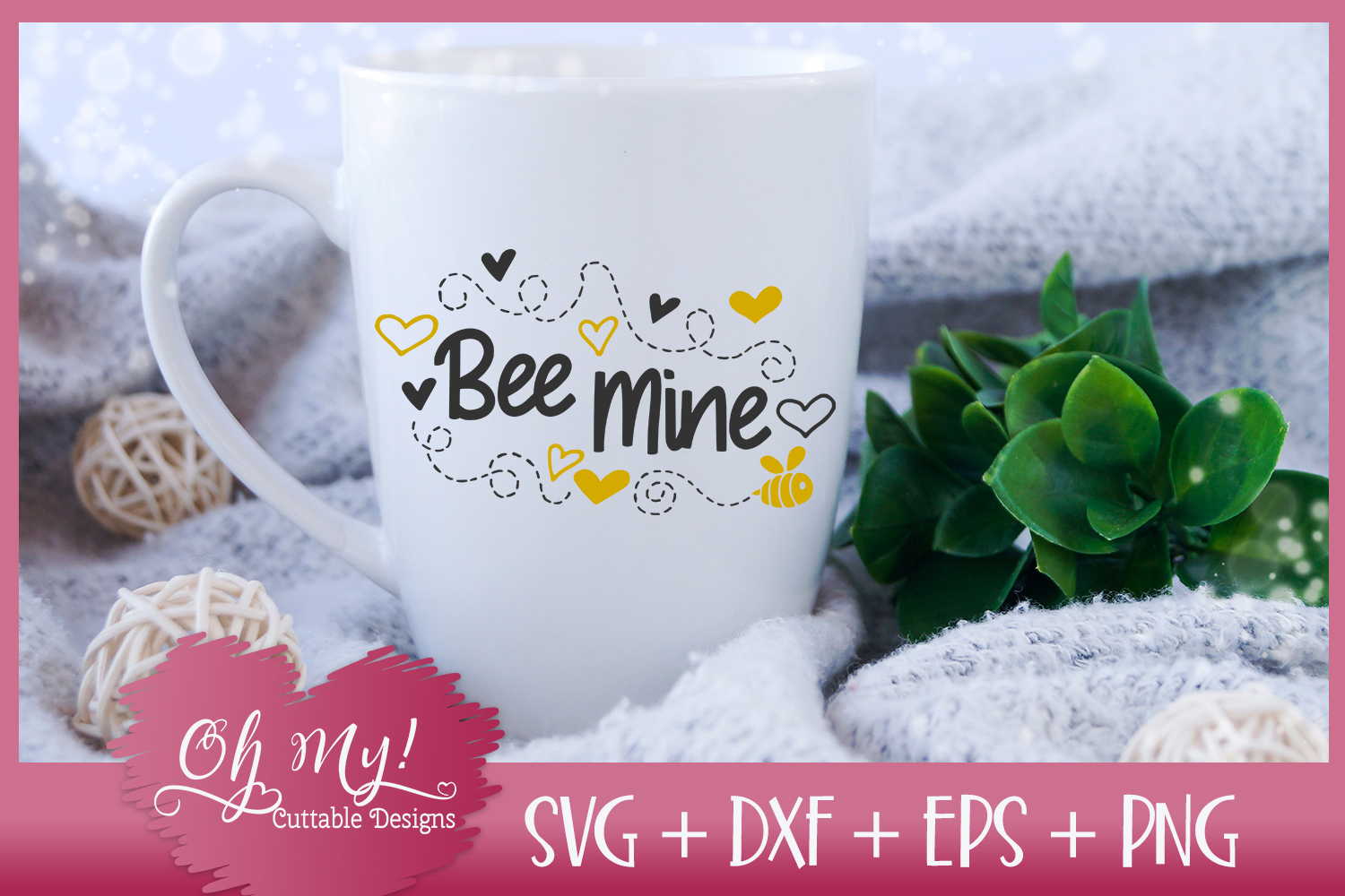 Bee Mine - SVG EPS DXF Cutting File example image 1