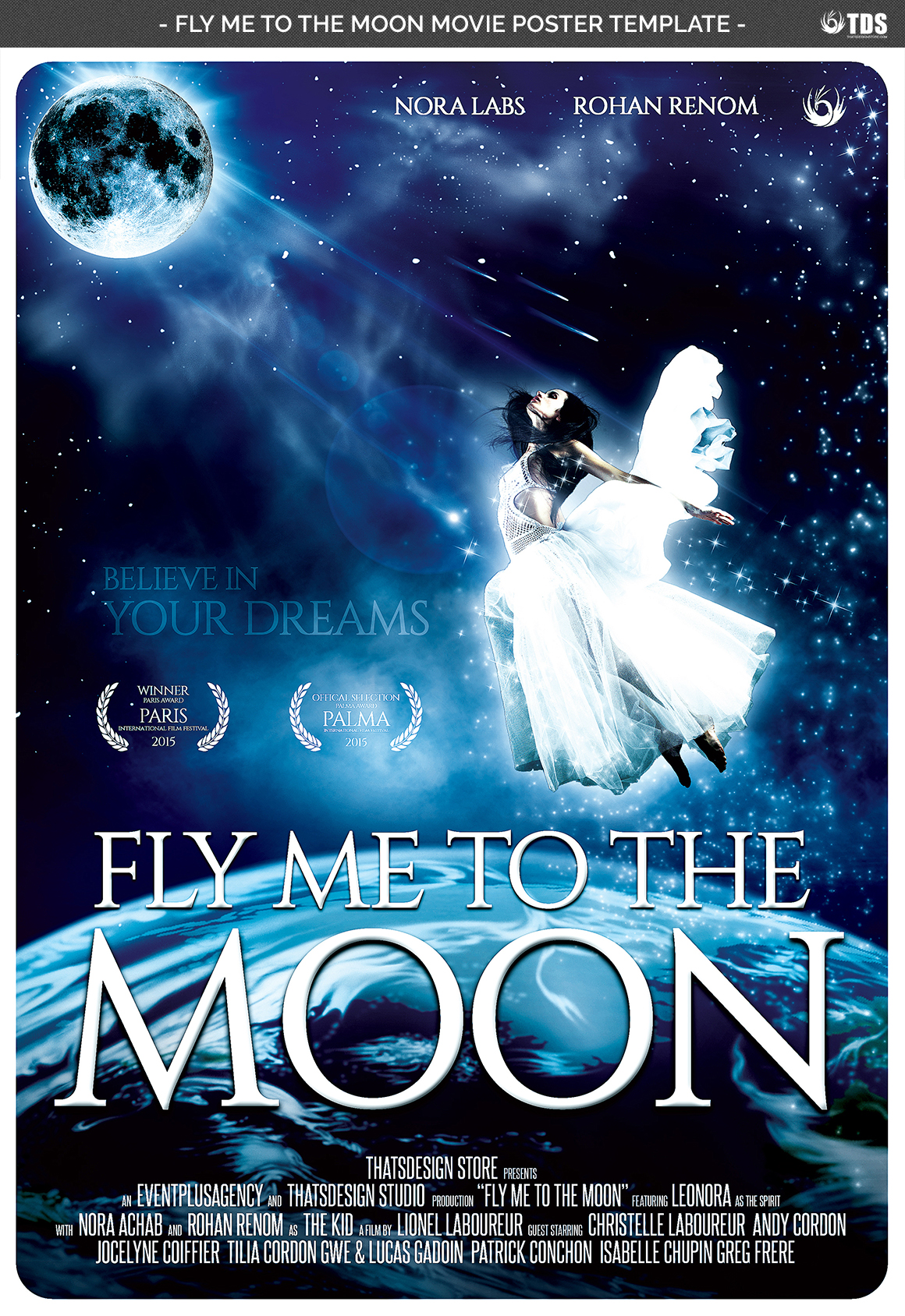 Fly Me to the Moon Movie Poster Template example image 4