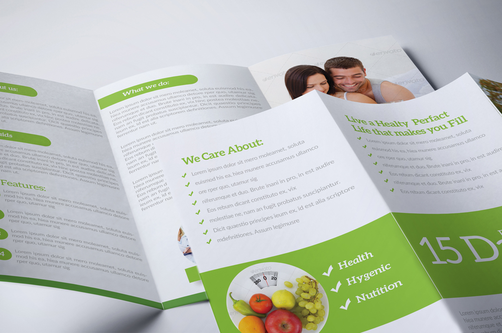 Health & Care Trifold Brochure example image 2