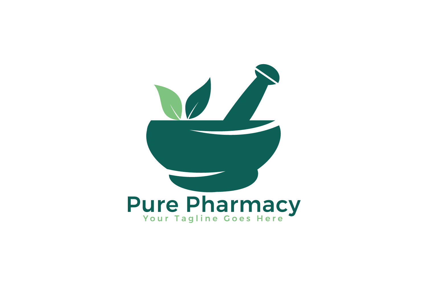 Pure Pharmacy Vector Logo Design. example image 2