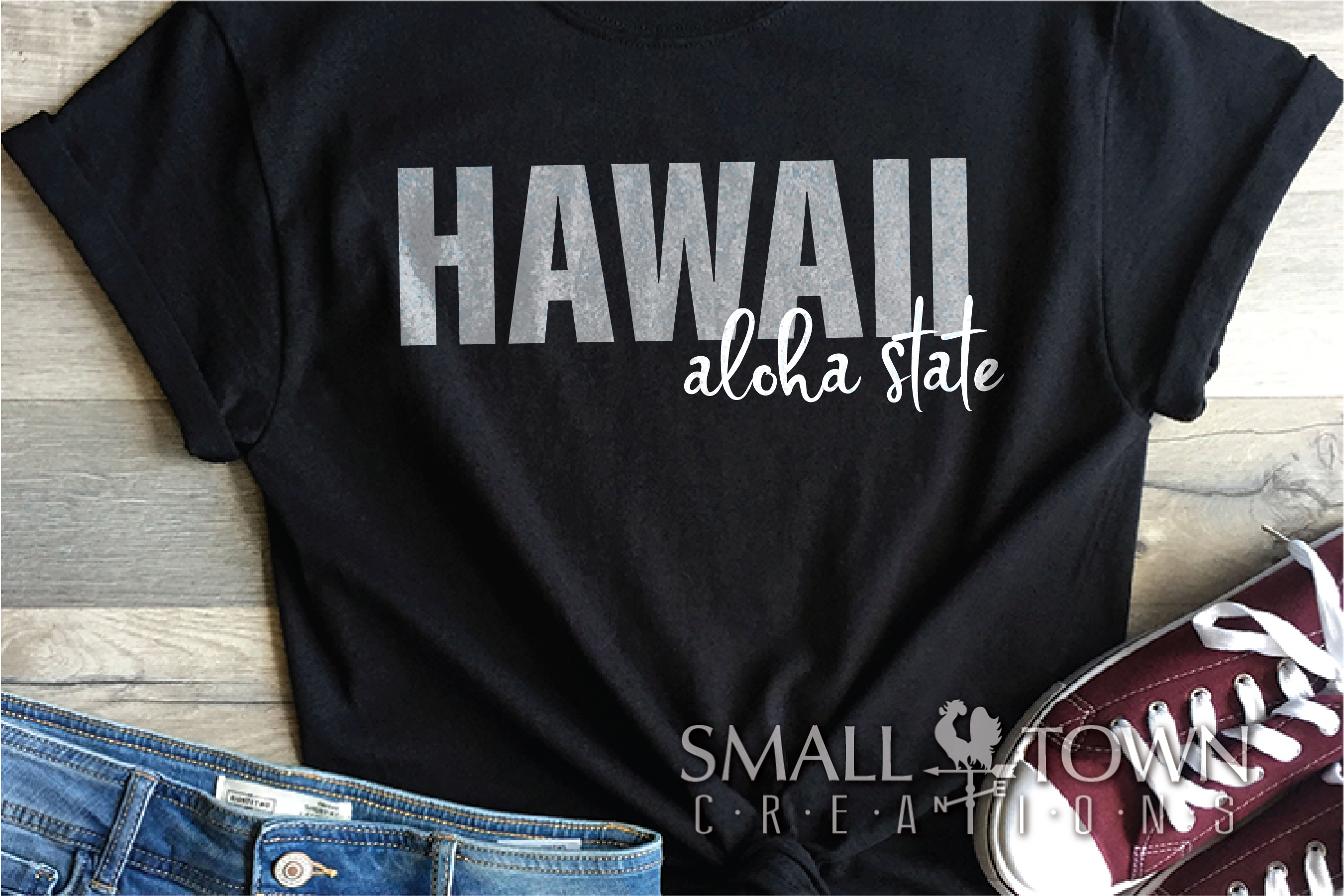 Hawaii, Aloha State - slogan, Logo, PRINT, CUT & DESIGN example image 6