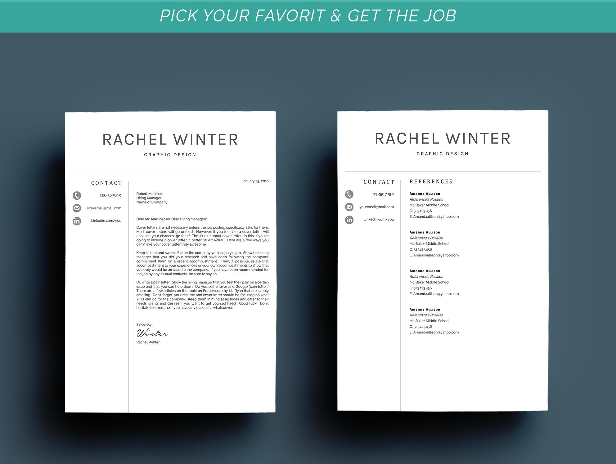 Creative Resume Template example image 7