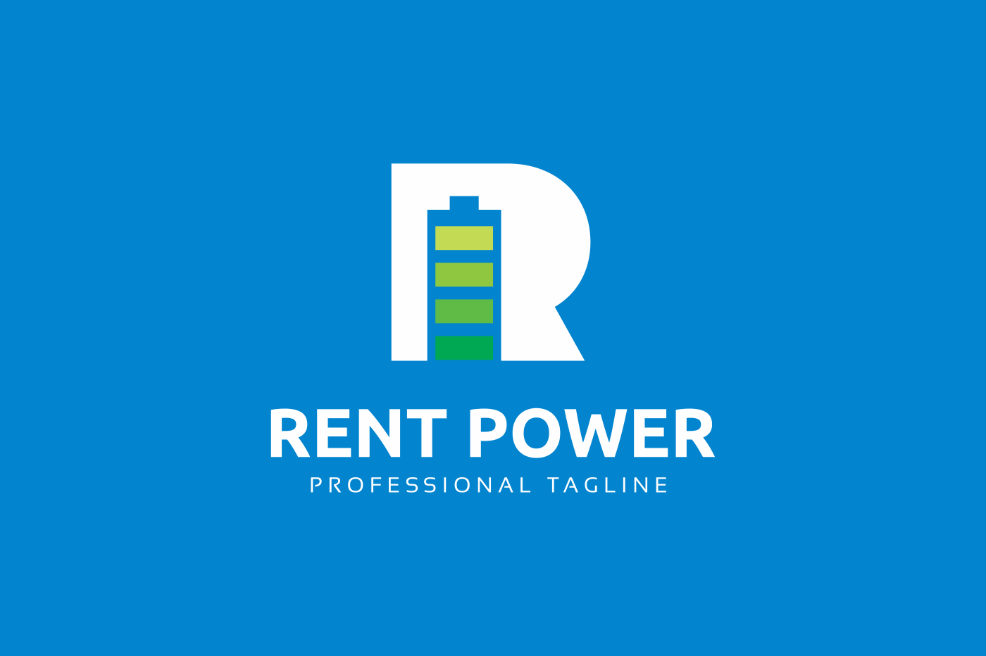 Rent Power R Letter Logo example image 2