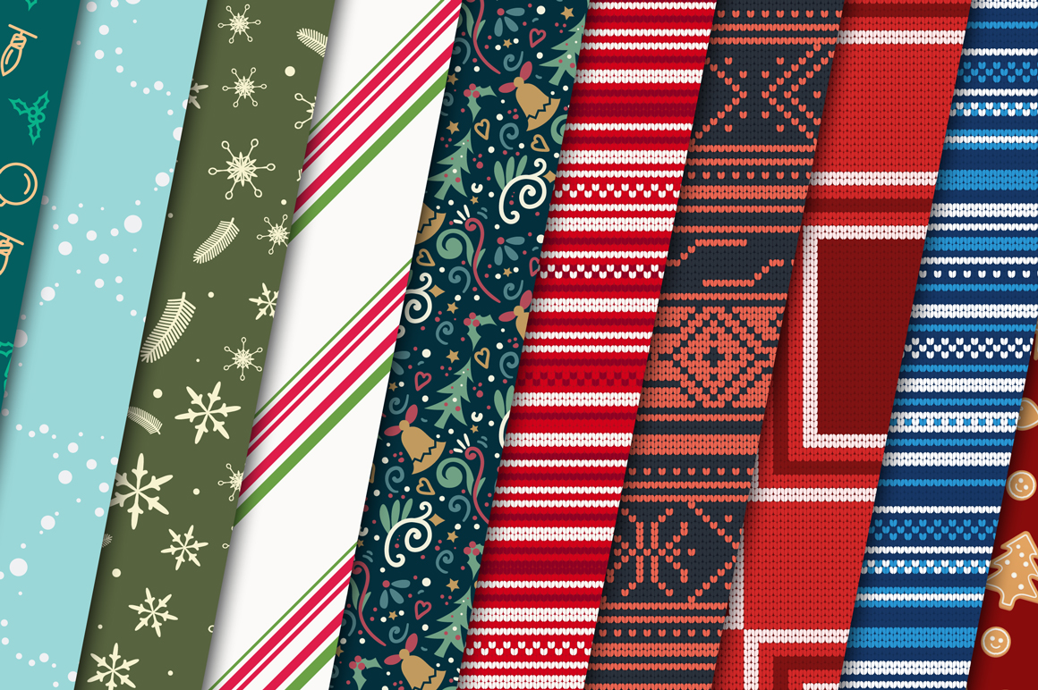 100 Christmas Seamless Patterns example image 8
