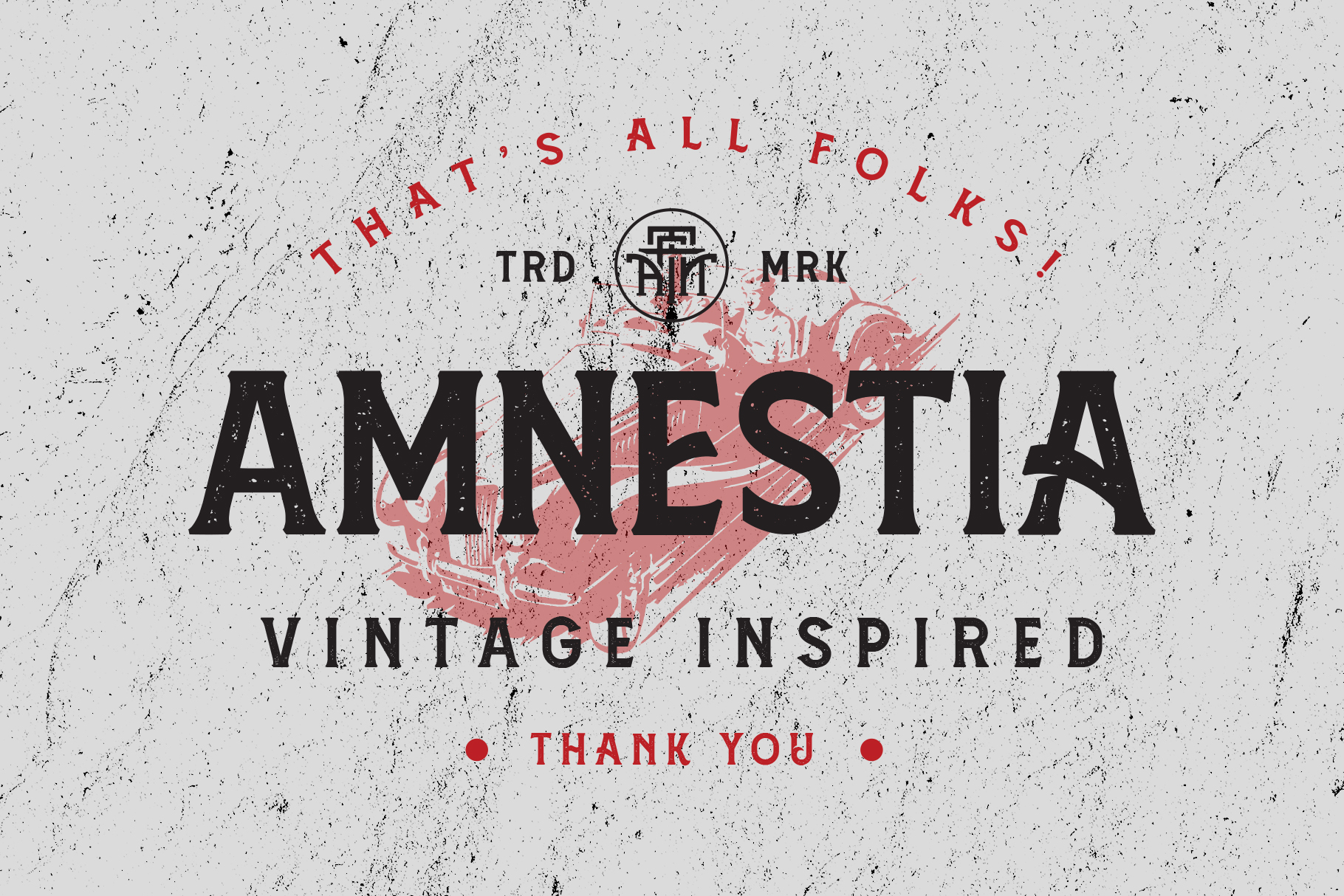 Amnestia Typeface with Extra example image 16