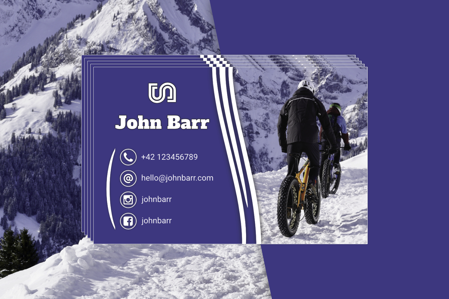 12 Sport Business Card Templates example image 2