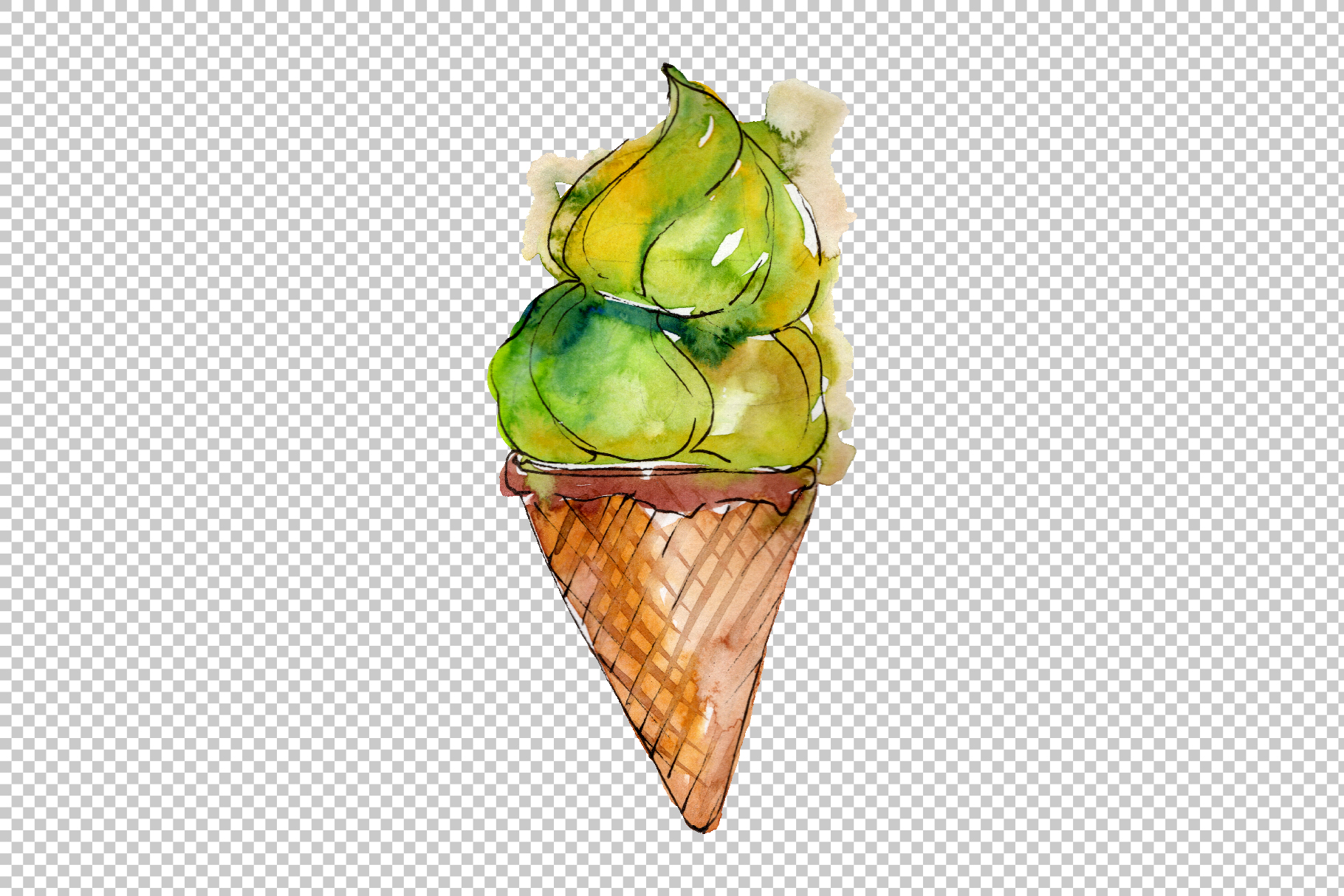 Ice cream Malvina Watercolor png example image 5