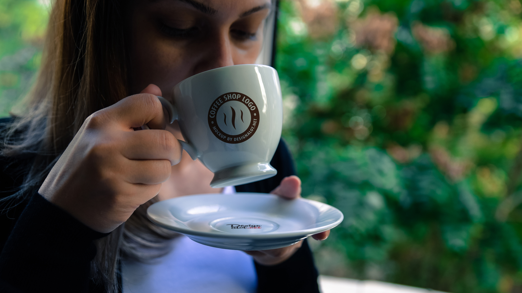 Models with Coffee Mugs Mockups Pack example image 5