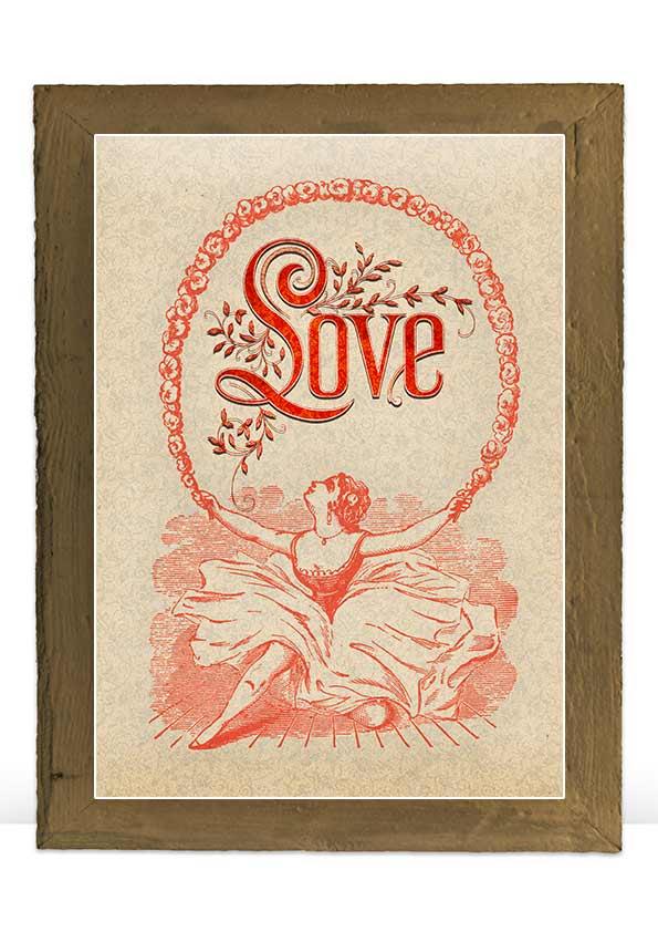 Digital Valentine vintage art print decoration example image 6