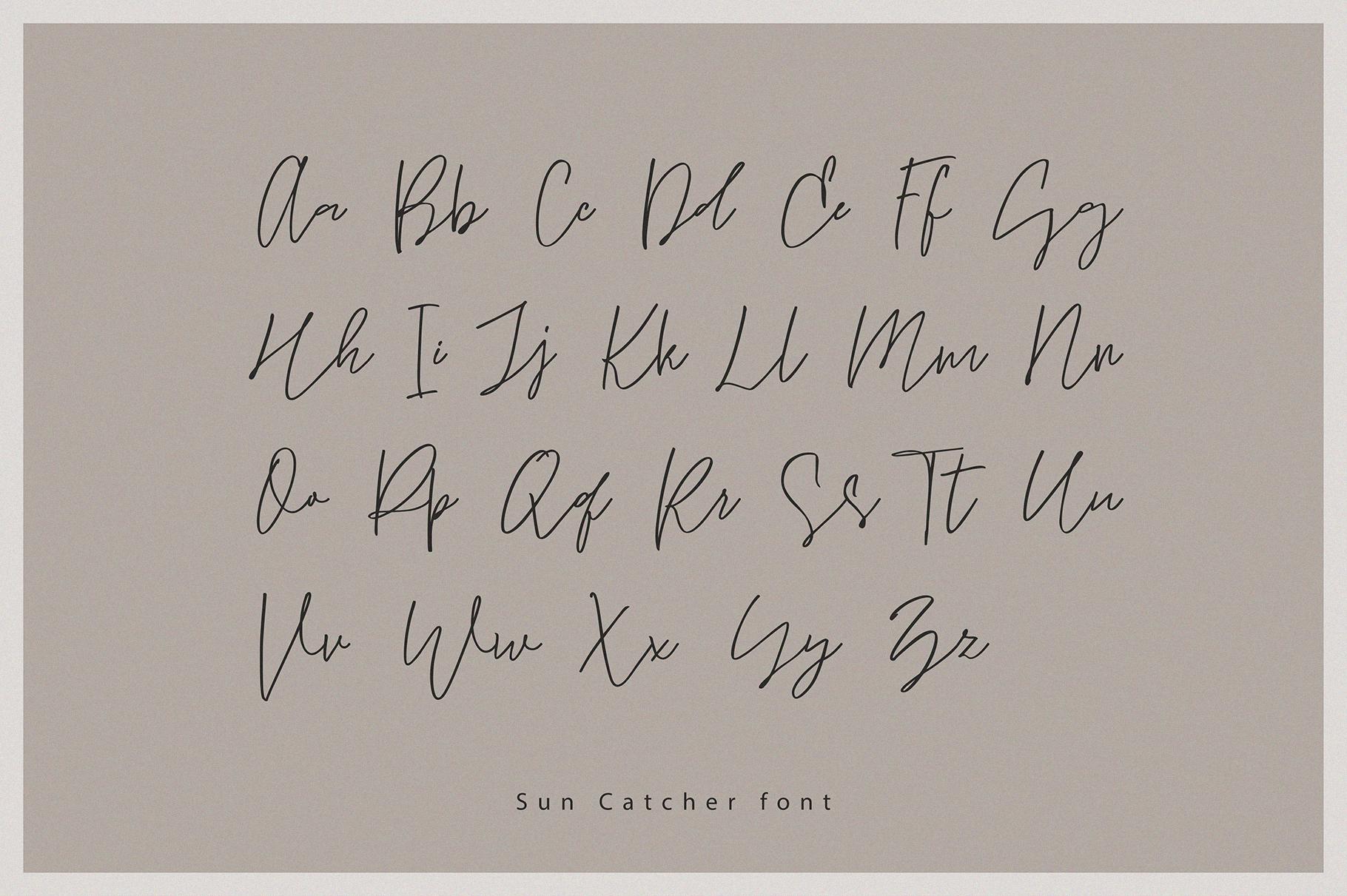 Sun Catcher   Multilingual Handwritten Script Font example image 2