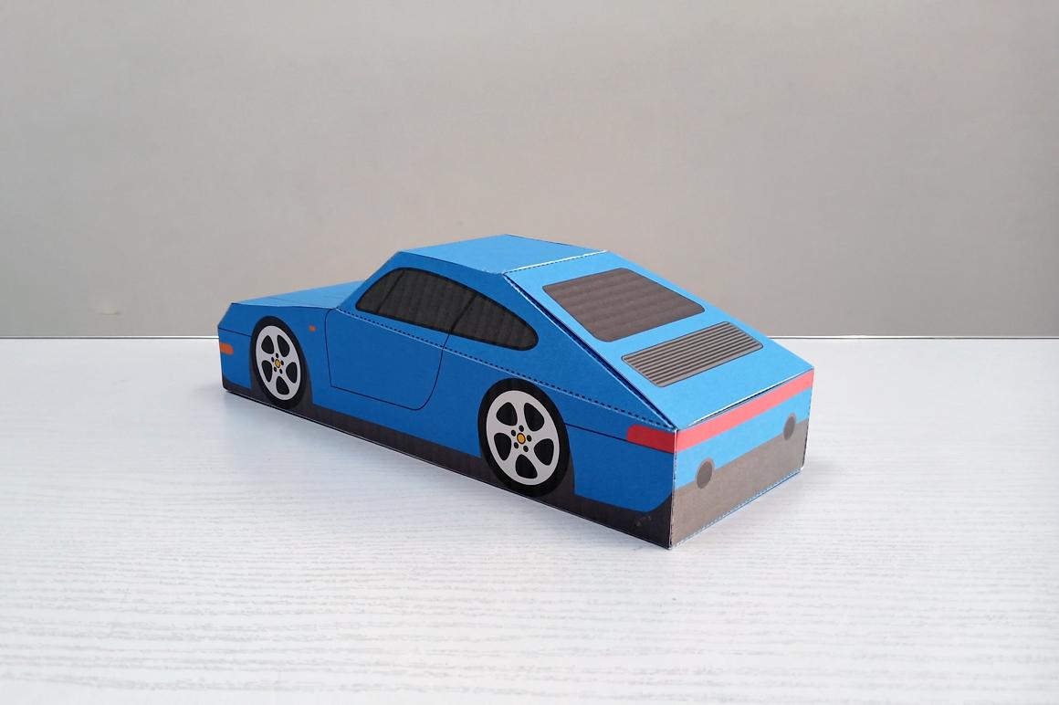 DIY Porsche Car favor - 3d papercraft example image 8
