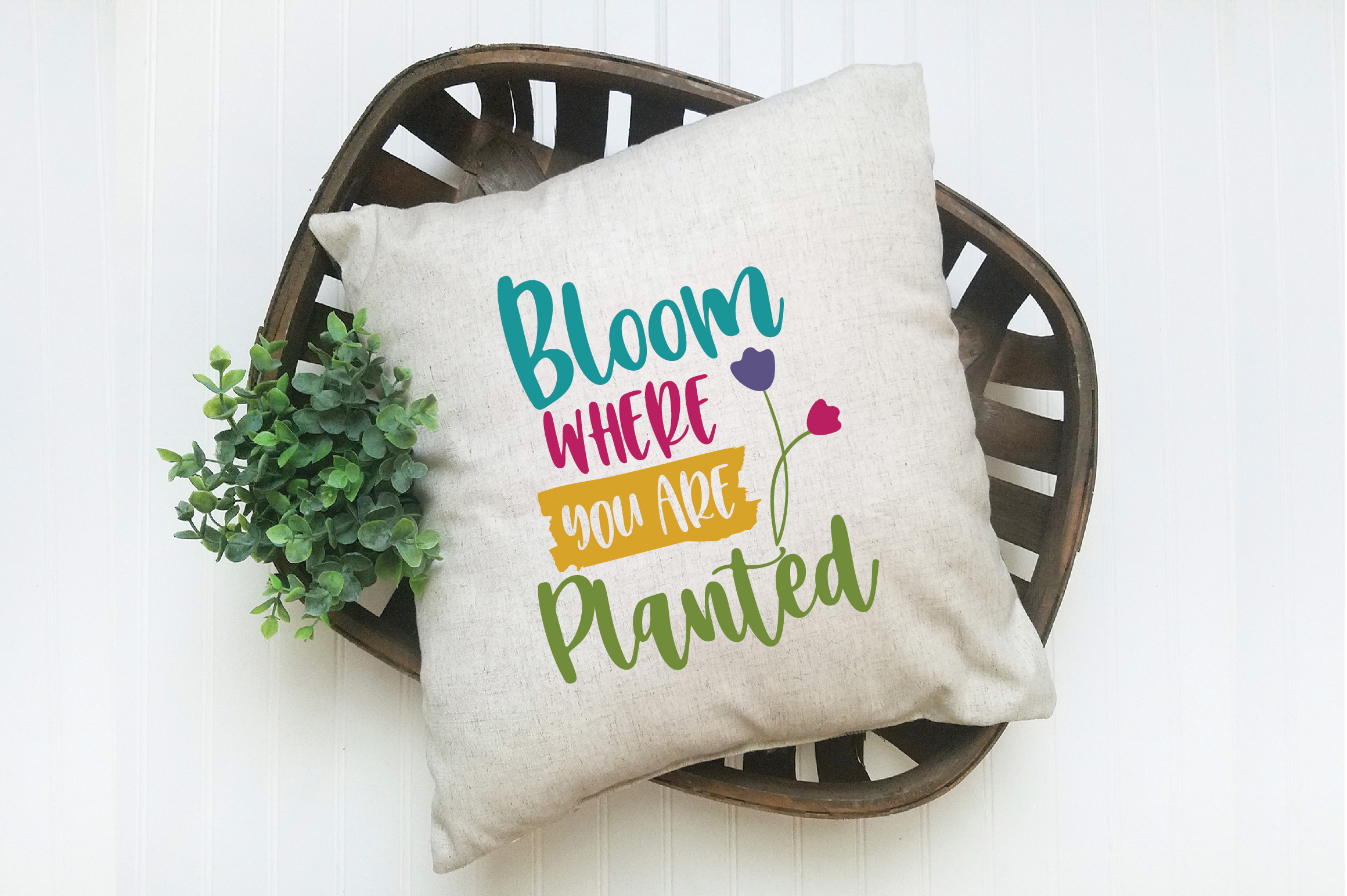 Bloom Where You Are Planted SVG Cut File - Spring SVG DXF example image 6