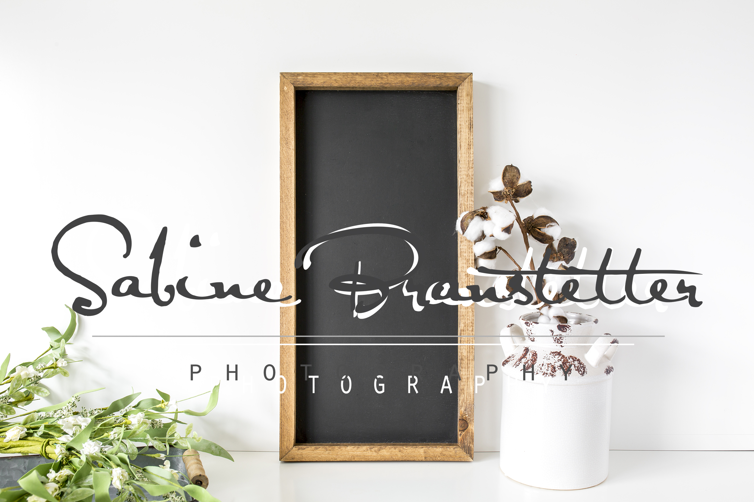 Styled Stock Photography Vertical Chalkboard Sign Mockup example image 1