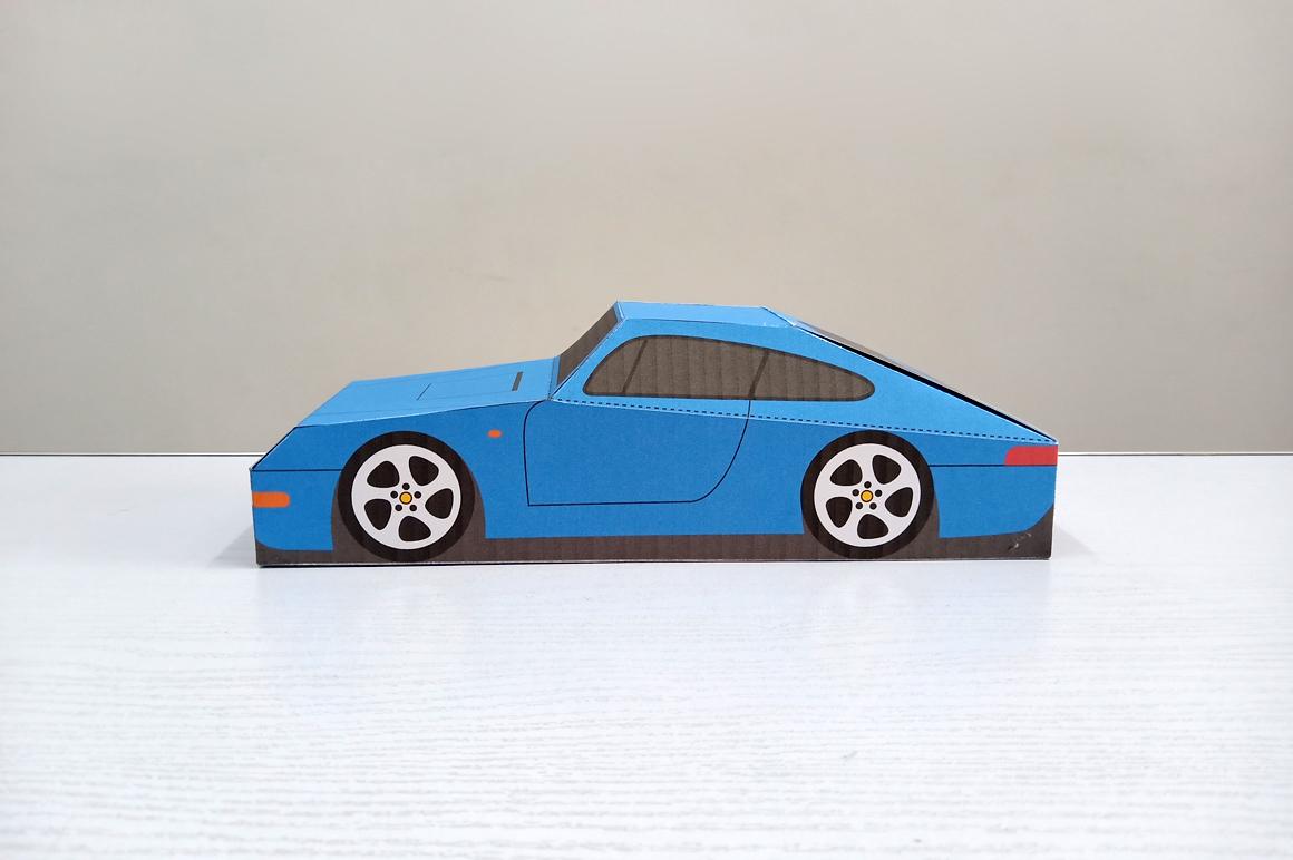DIY Porsche Car favor - 3d papercraft example image 6