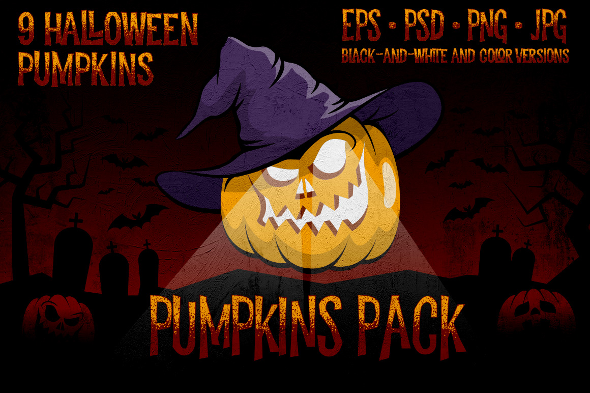 Halowen Pumpkins Pack example image 1