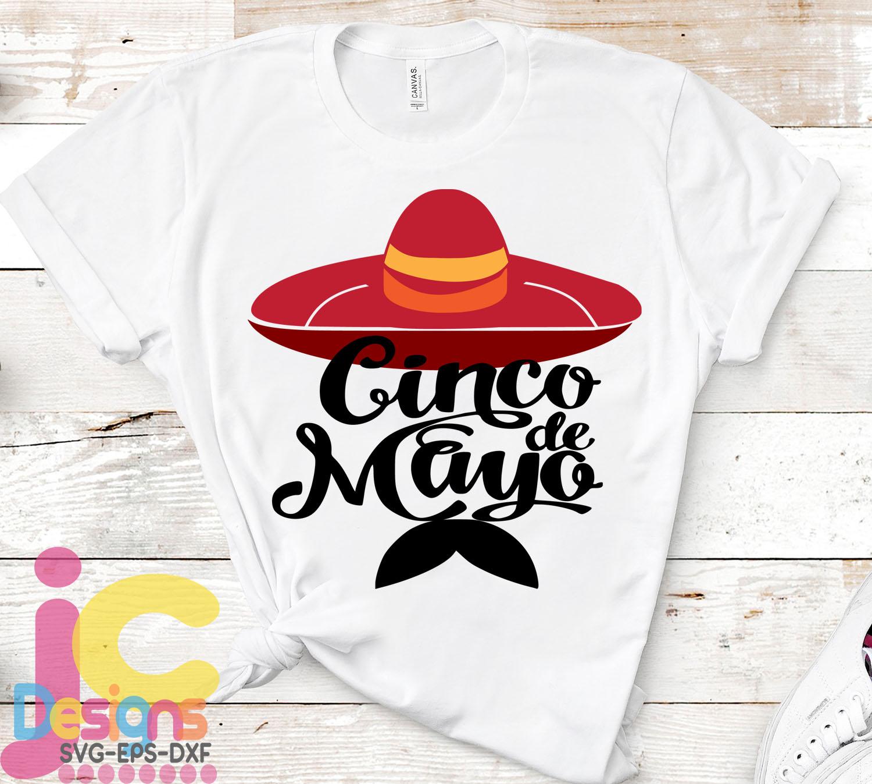 Sombrero with Mustache Svg Sombrero Svg Cinco de Mayo Svg example image 2