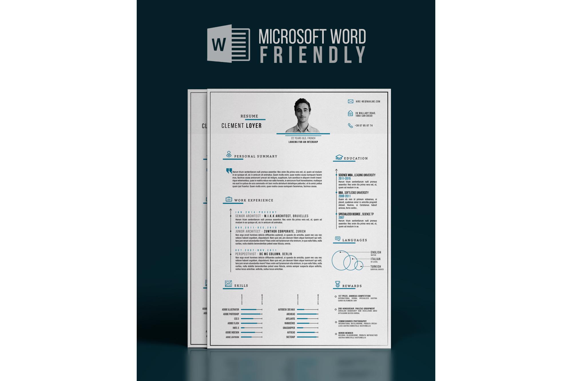 Precise Blue Resume example image 2