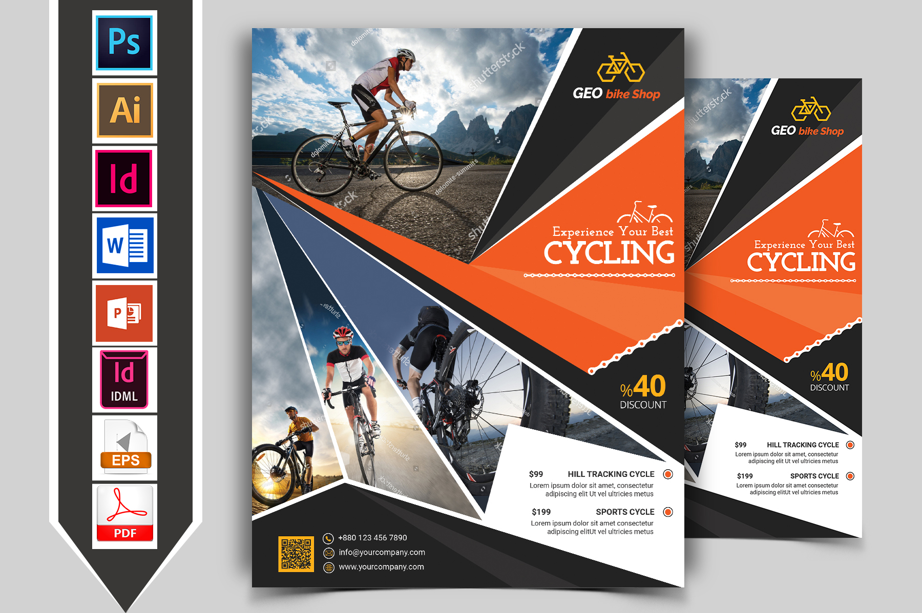 Cycle Shop Flyer Template Vol-03 example image 1