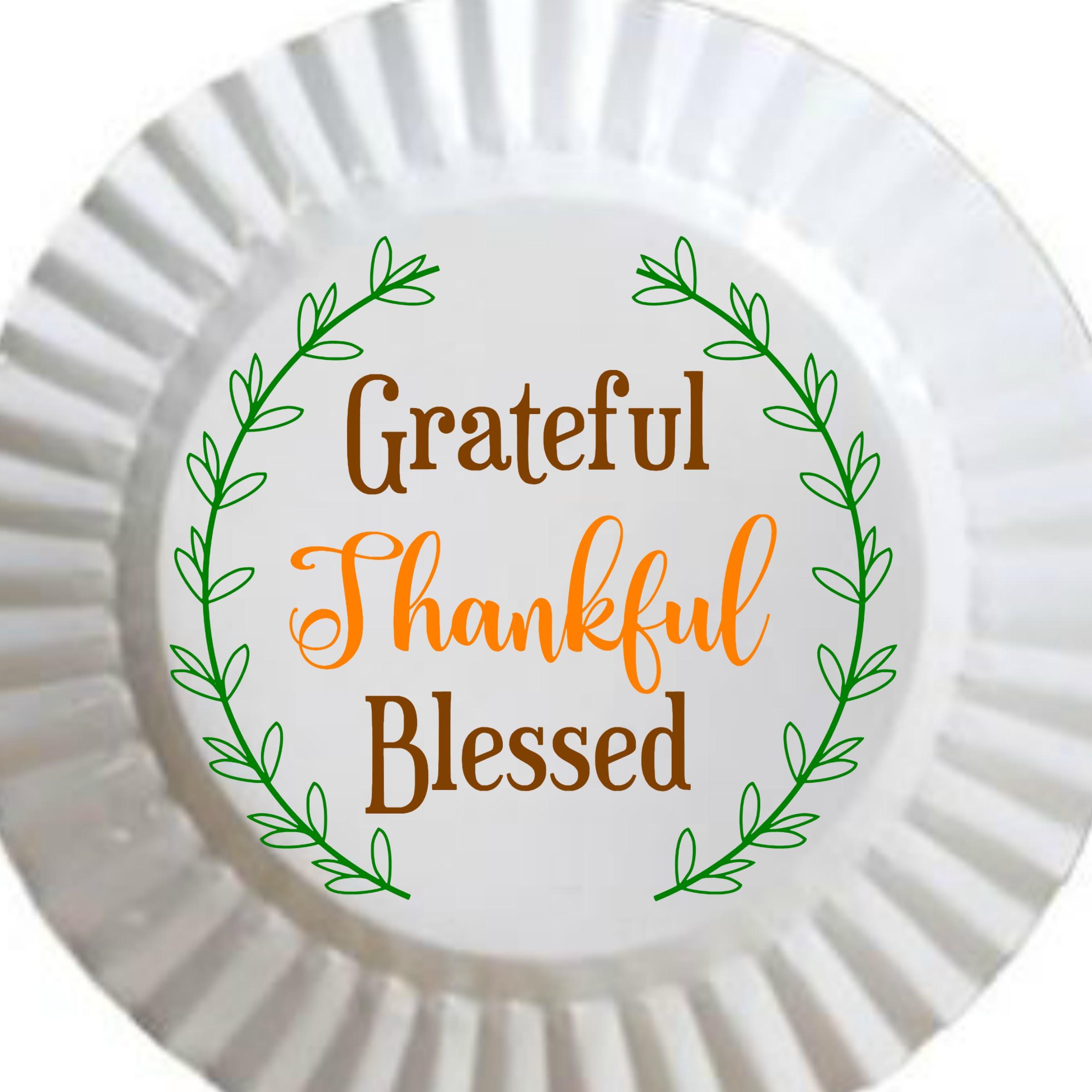 Grateful, Thankful, Blessed Printable with BONUS SVG file example image 2