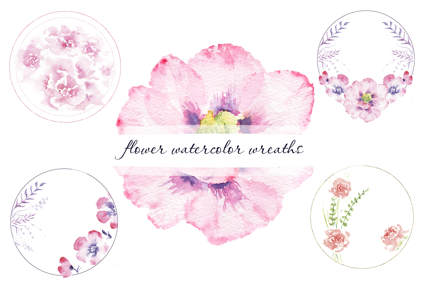 Spring mood in watercolor flowers example image 3