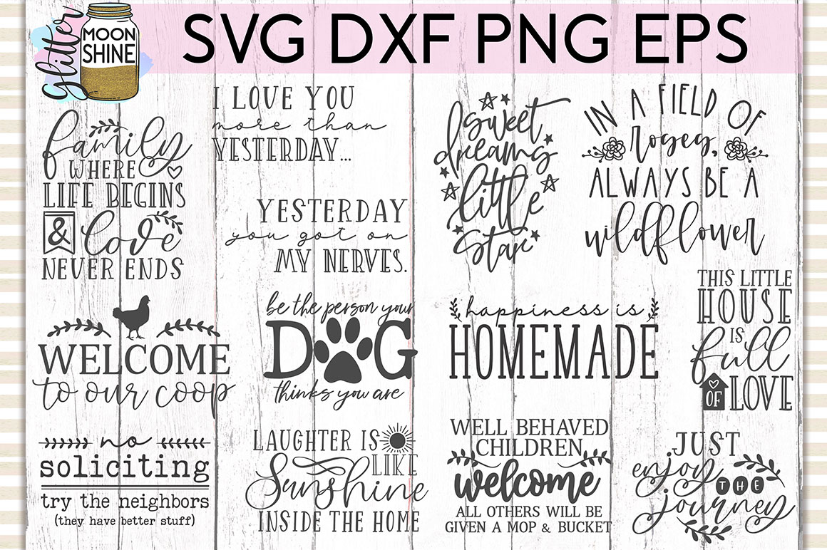 Rustic Home Bundle of 42 SVG DXF PNG EPS Cutting Files example image 4