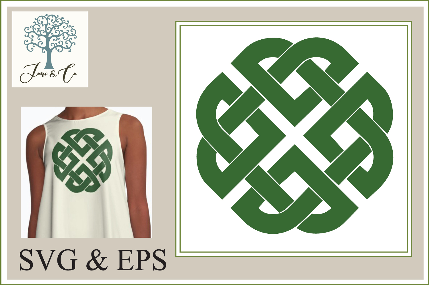 Celtic Knot 2 Shield Knot example image 1