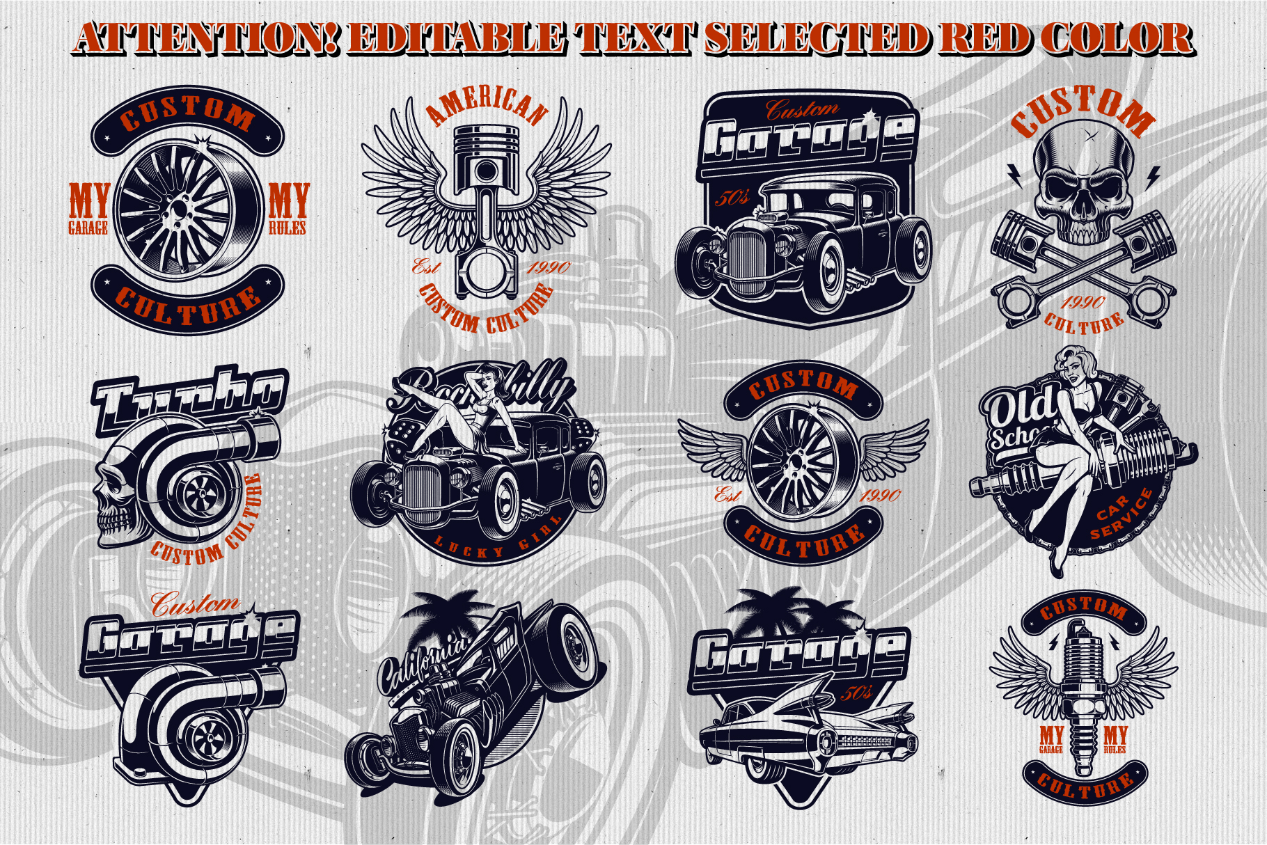 Car Service Vector Designs example image 4