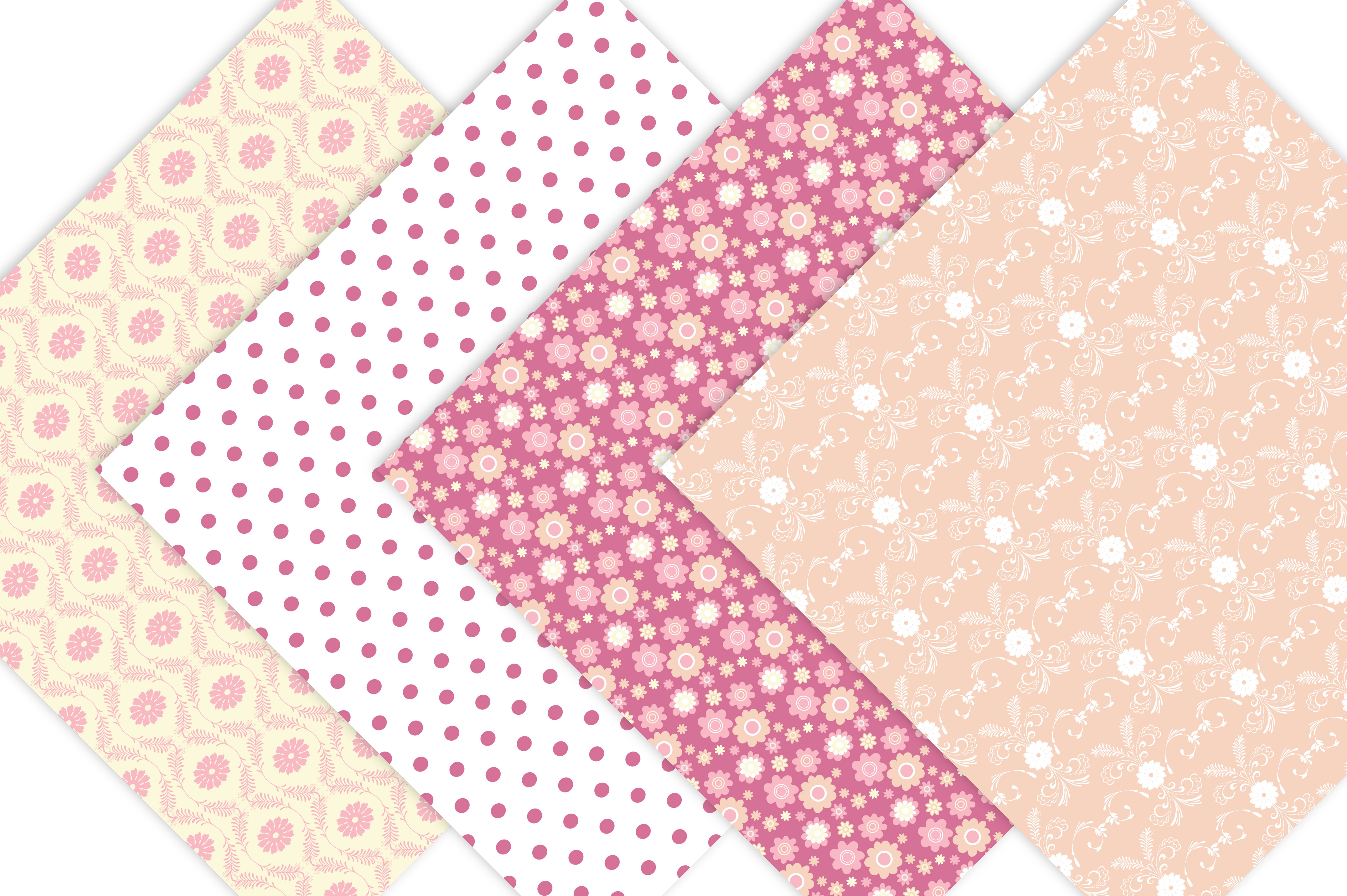 Pink and Yellow Digital Patterns example image 6
