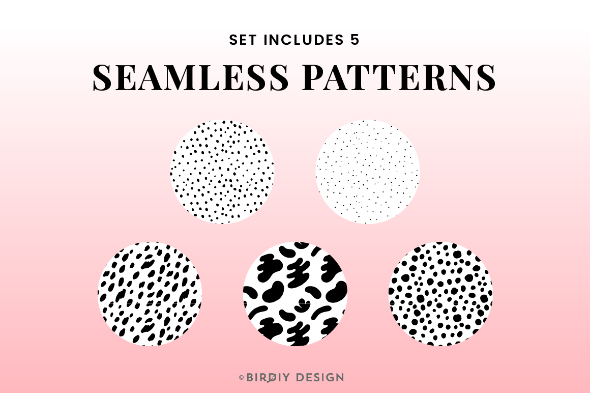 Doodle Abstract Floral Pattern Design Kit example image 2