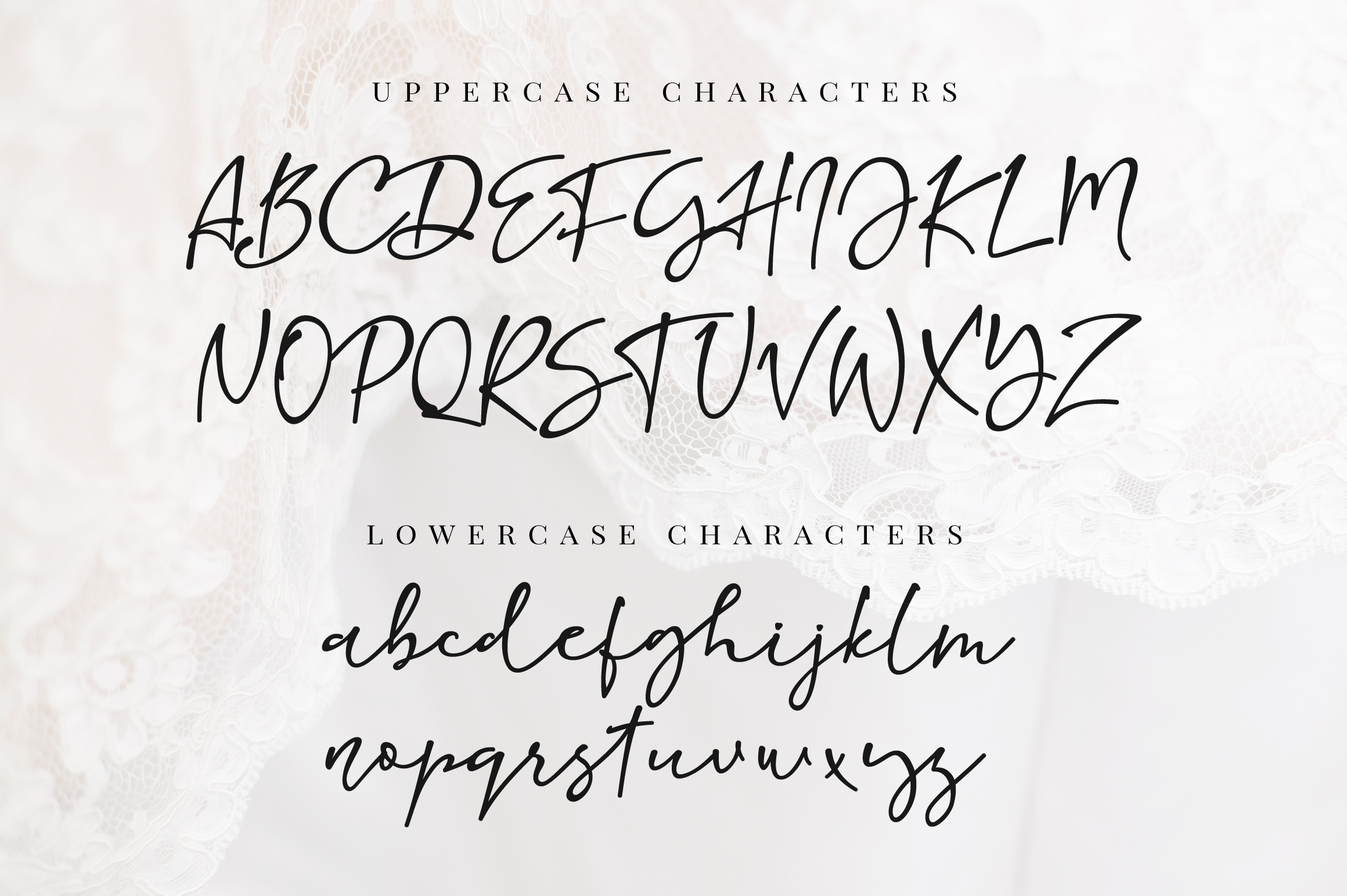 So Real - handwritten thin calligraphy font example image 3