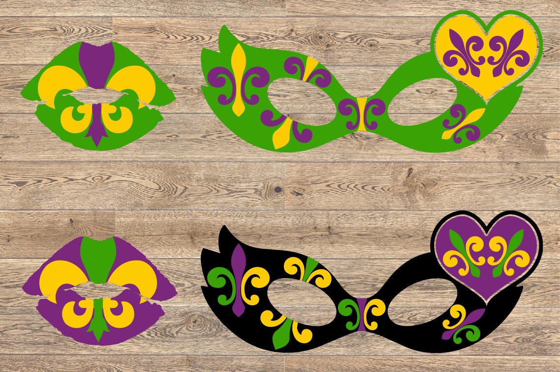 Mardi Gras Mask and Lips SVG Louisiana Fat Tuesday 1252S example image 2