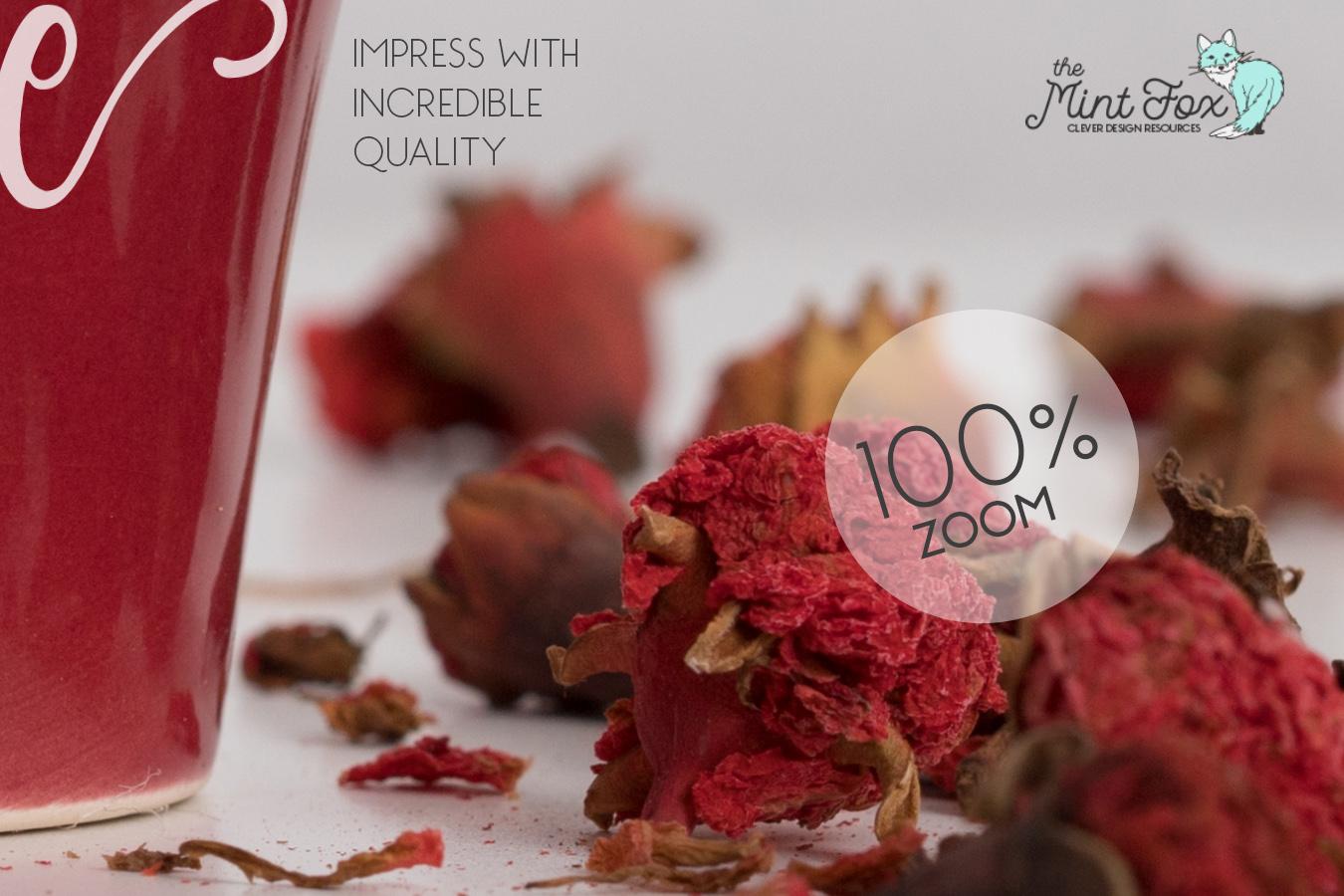 Coffee Cup Mockup | PSD & JPG Coffee Mug with Flowers example image 3