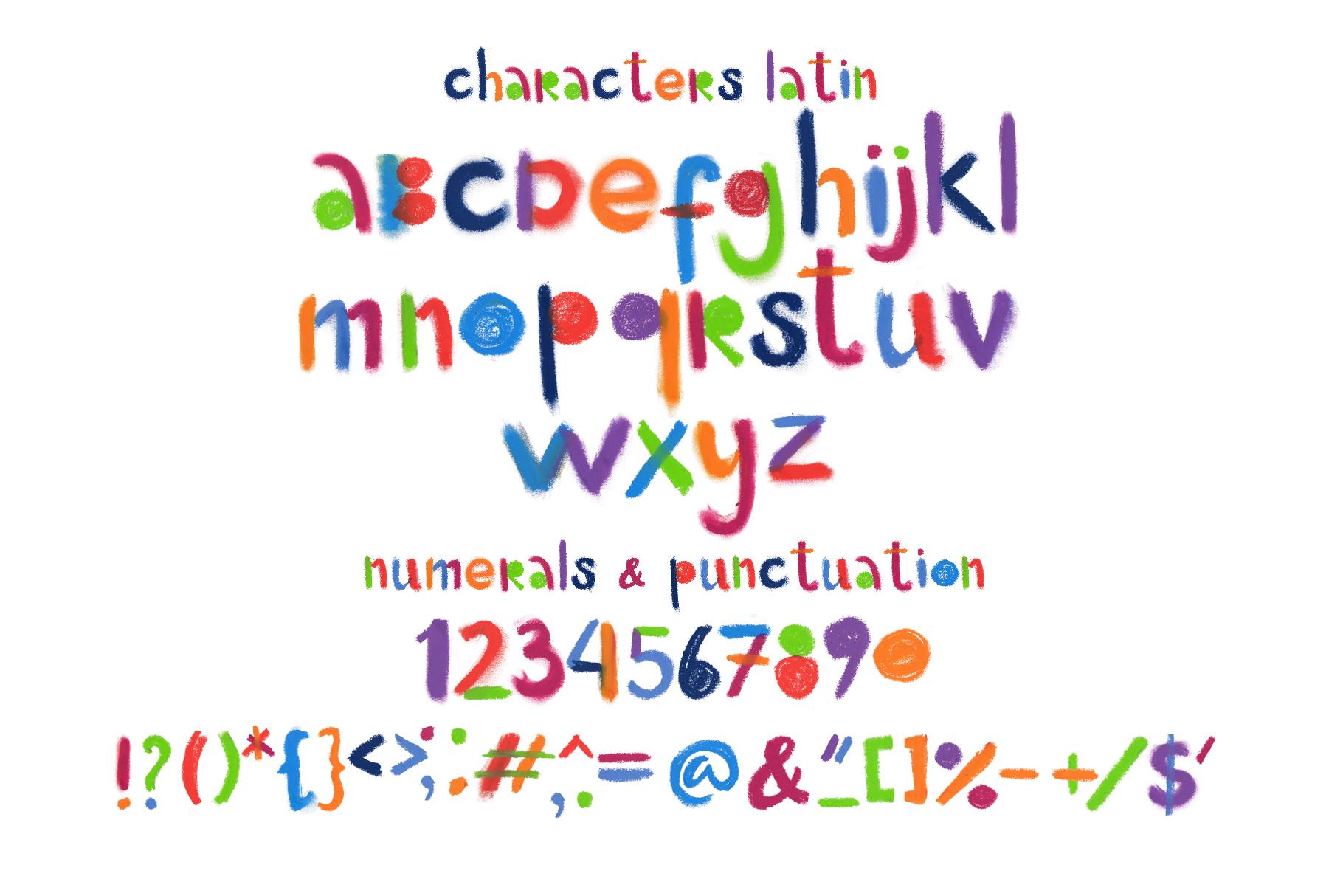 """Little monster"" bitmap color font example image 2"